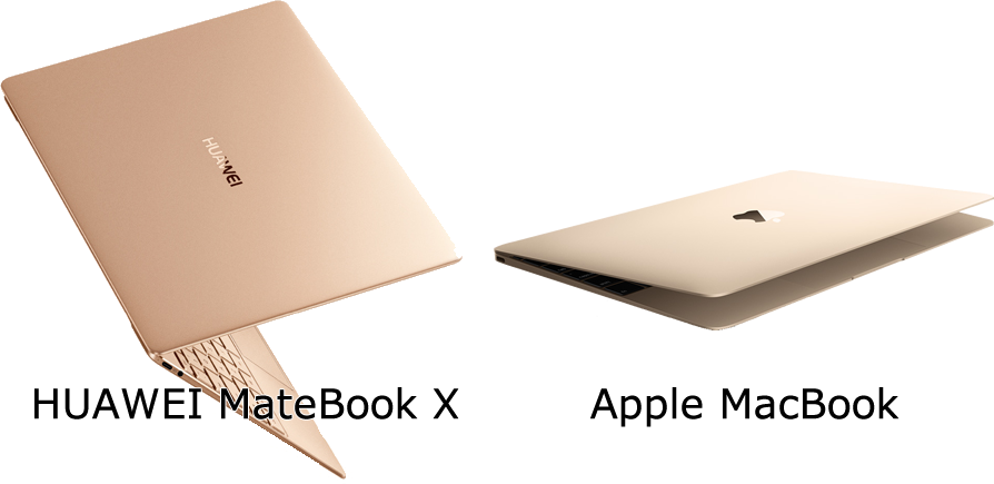 MateBookXとMacBook