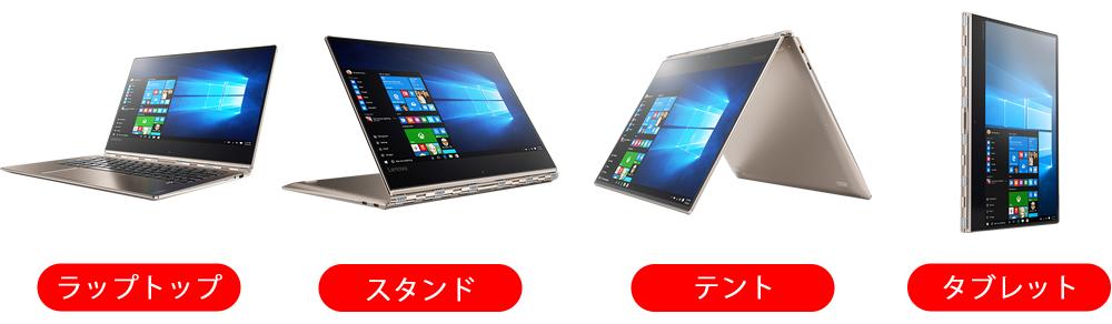Lenovo YOGA 920 4つの使い方